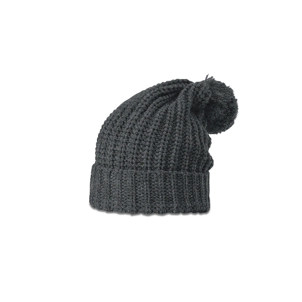 b7de82e17f9 Richardson Heather Charcoal Chunk Pom Beanie with Cuff