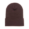 1501-yupoong-brown-cuffed-knit-cap