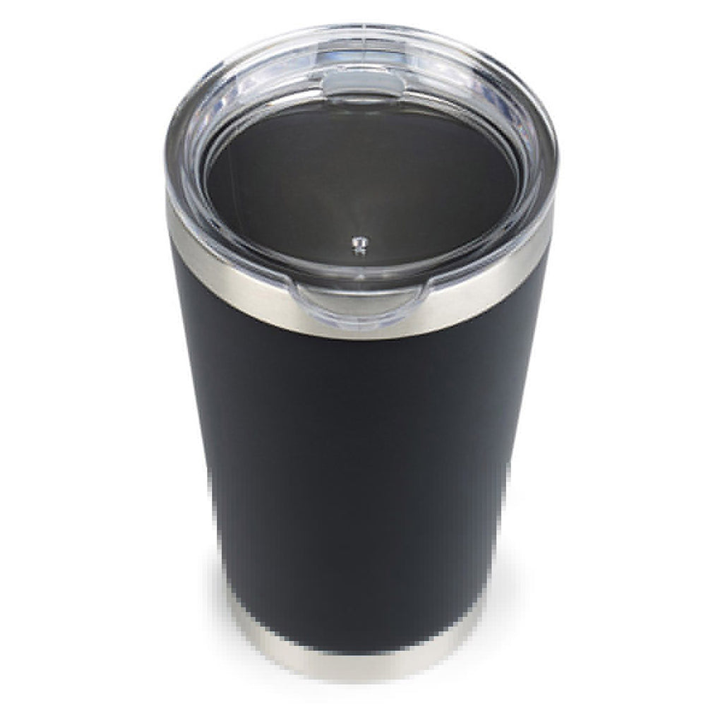 Aviana Matte Black Vale Double Wall Stainless Pint-16oz