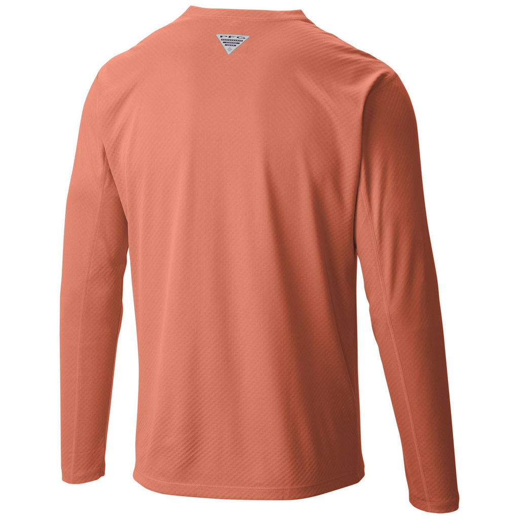 Columbia Men's Bright Peach PFG Zero Rules Long Sleeve Shirt