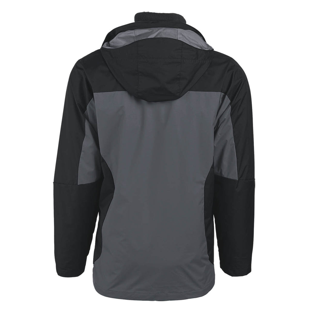 Columbia Men's Black/Grey Eager Air 3-in-1 Interchange Jacket