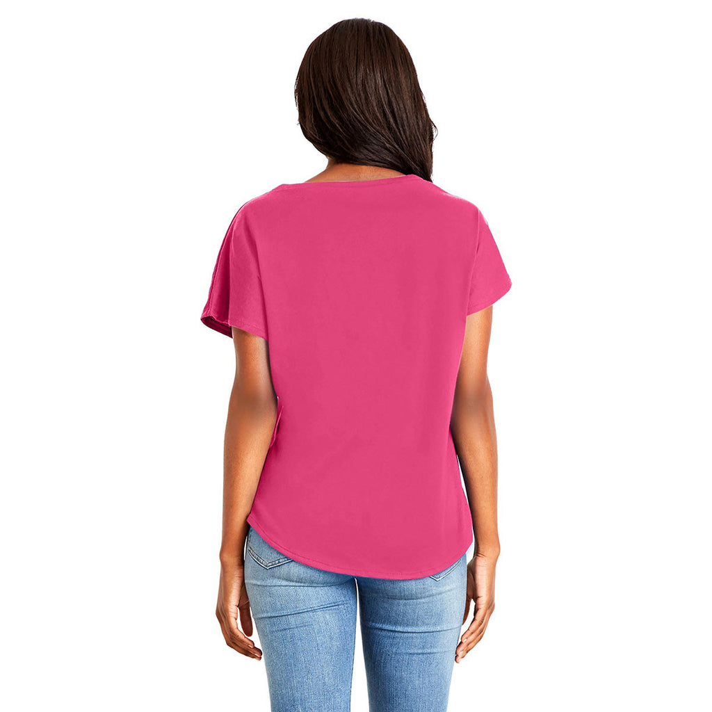 Next Level Women's Hot Pink Ideal Dolman