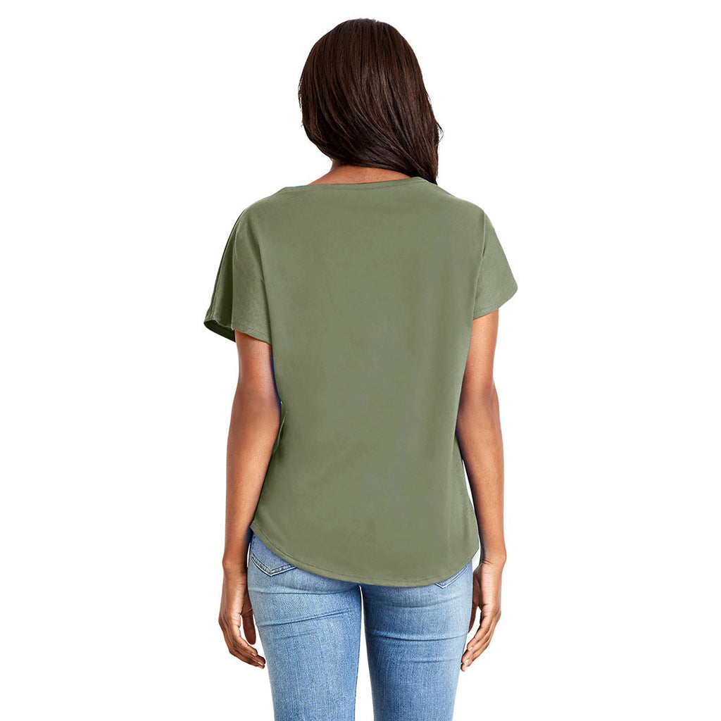 Next Level Women's Military Green Ideal Dolman