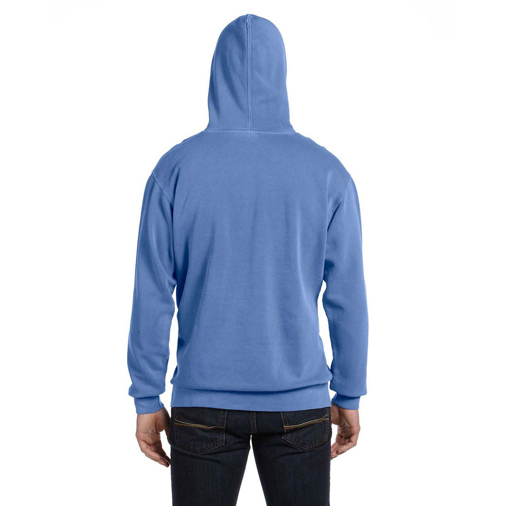 Comfort Colors Men's Flo Blue 9.5 oz. Hooded Sweatshirt
