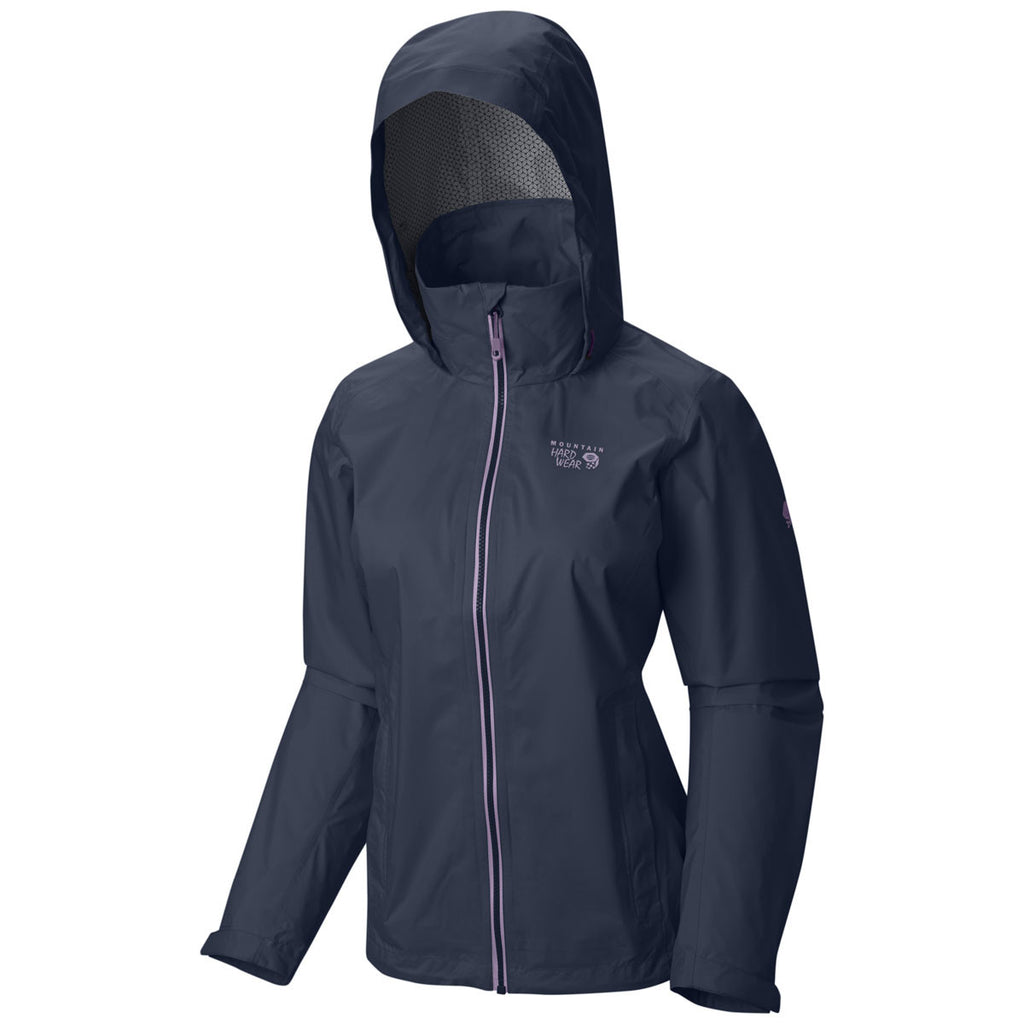 Mountain Hardwear Women's Zinc/Phantom Purple Plasmic Ion Jacket