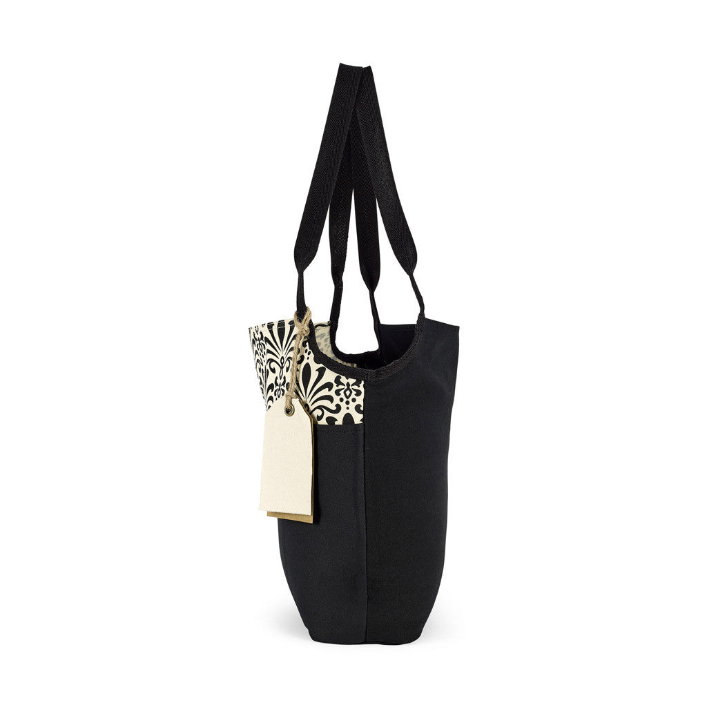Gemline Black Pattern Tori Cotton Fashion Tote