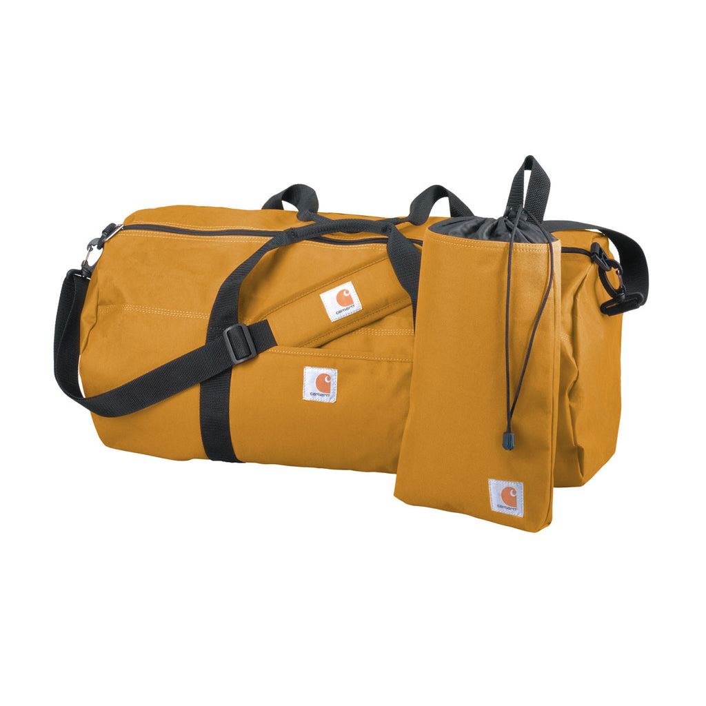 Carhartt Brown Trade Series Large Duffel & Utility Pouch