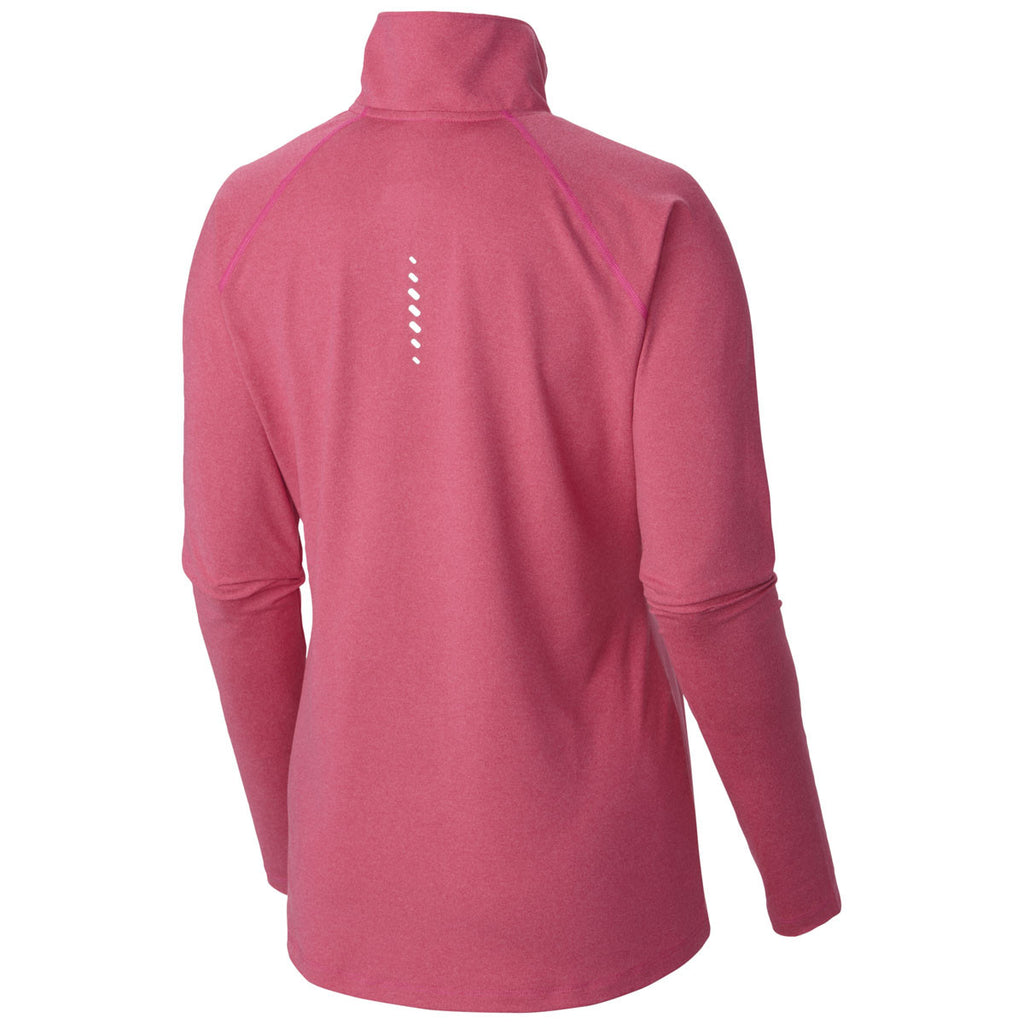 Columbia Women's Haute Pink Heather Summit Half-Zip Pullover