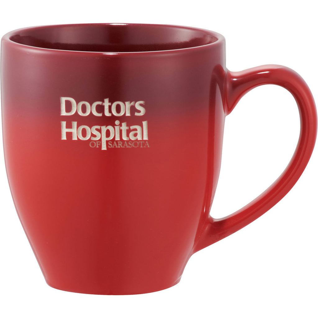 Leeds Red Bistro Ceramic Mug 16oz