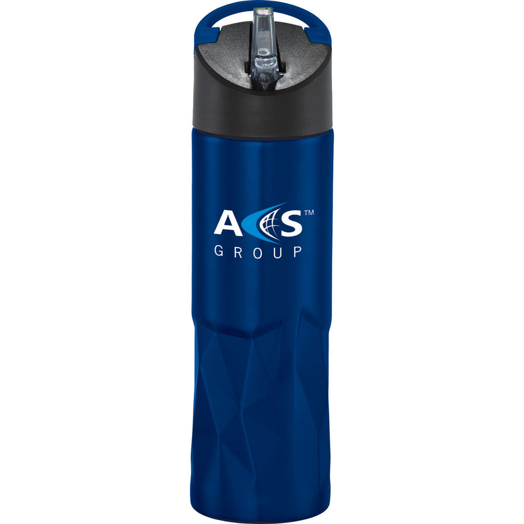 Leed's Blue Geometric Stainless Bottle 30oz
