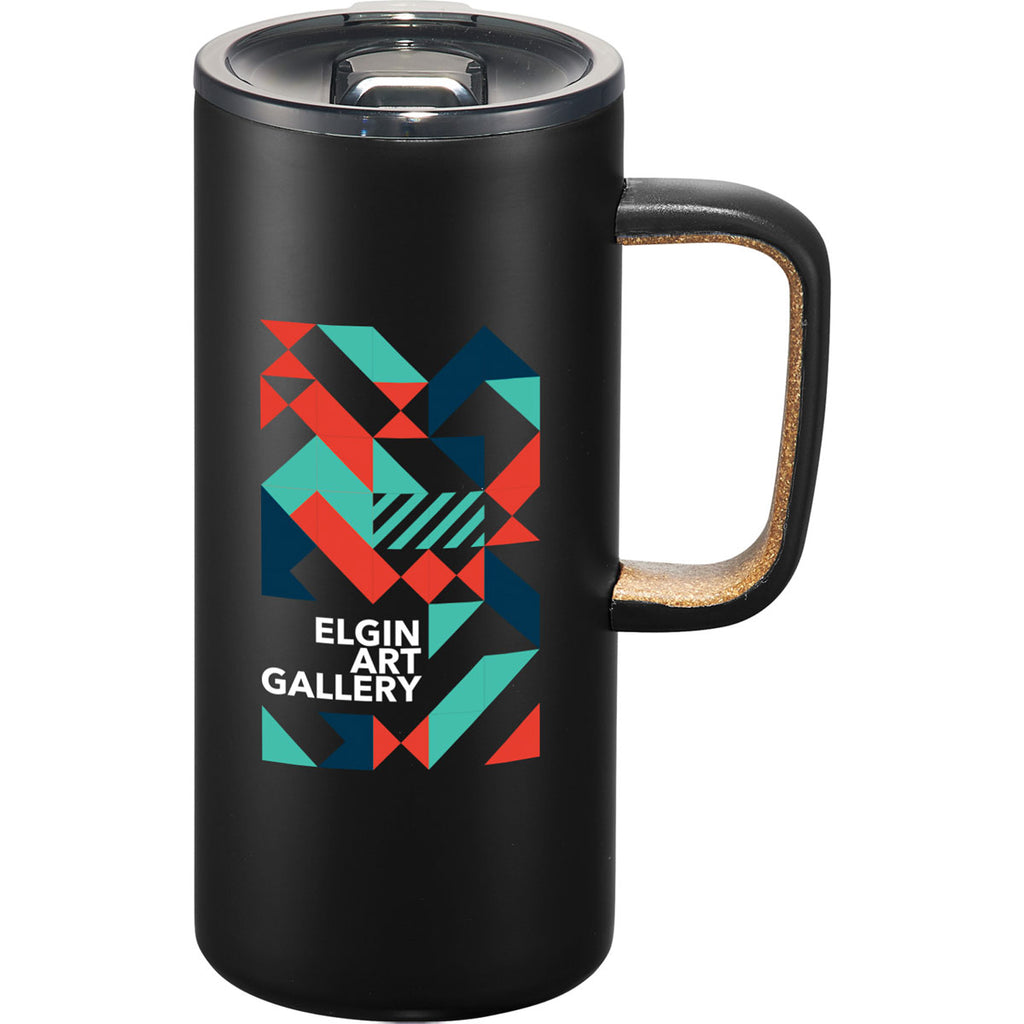 Leeds Black Valhalla Copper Vacuum Mug with Cork 16oz