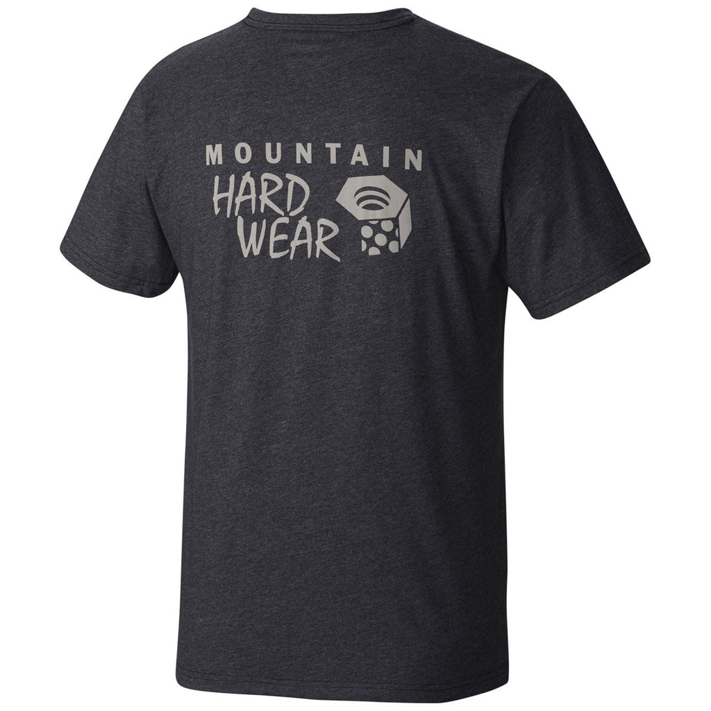 Mountain Hardwear Men's Heather Black Logo Graphic Short Sleeve T-shirt