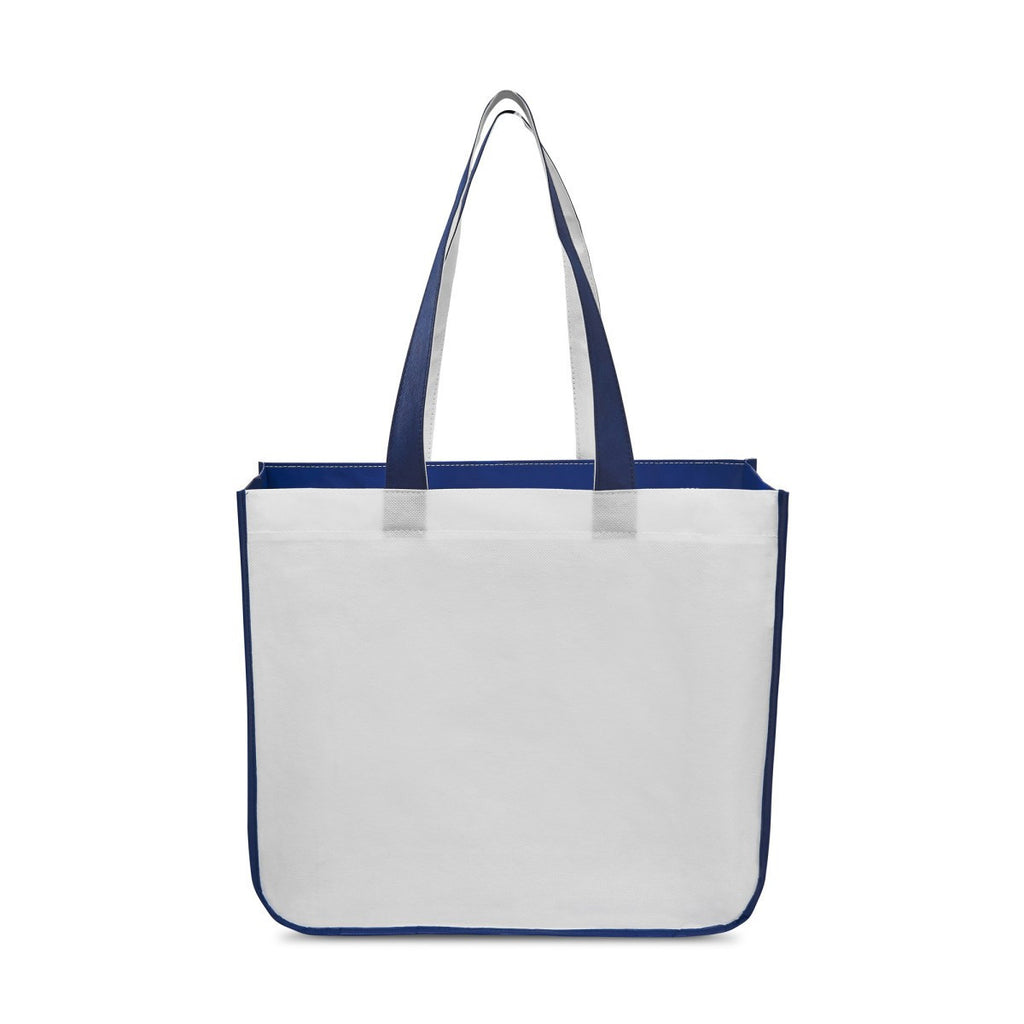 Gemline Royal Blue Sedona Laminated Shopper