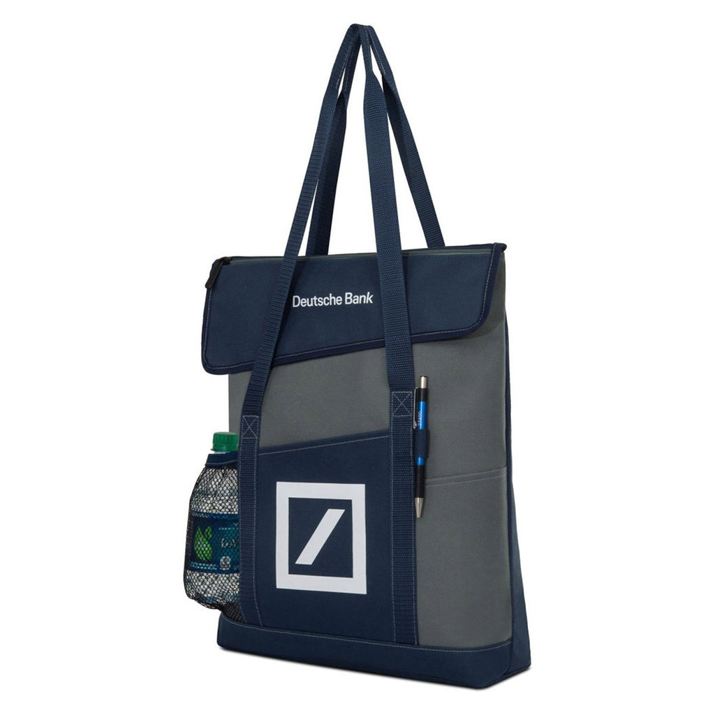 Gemline Navy Blue Feelance Convention Tote