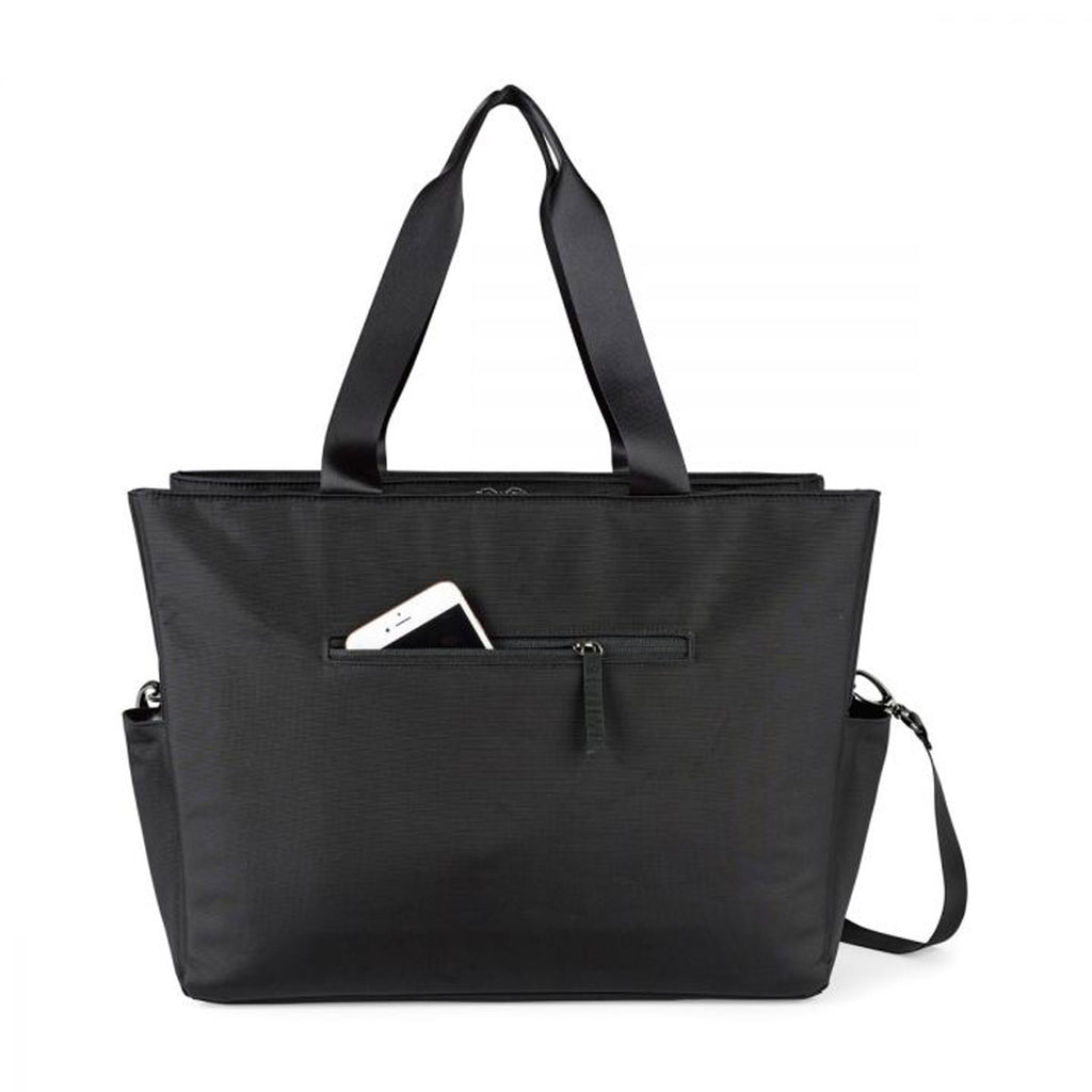 Life in Motion Black Charcoal Heather All Day Deluxe Computer Tote