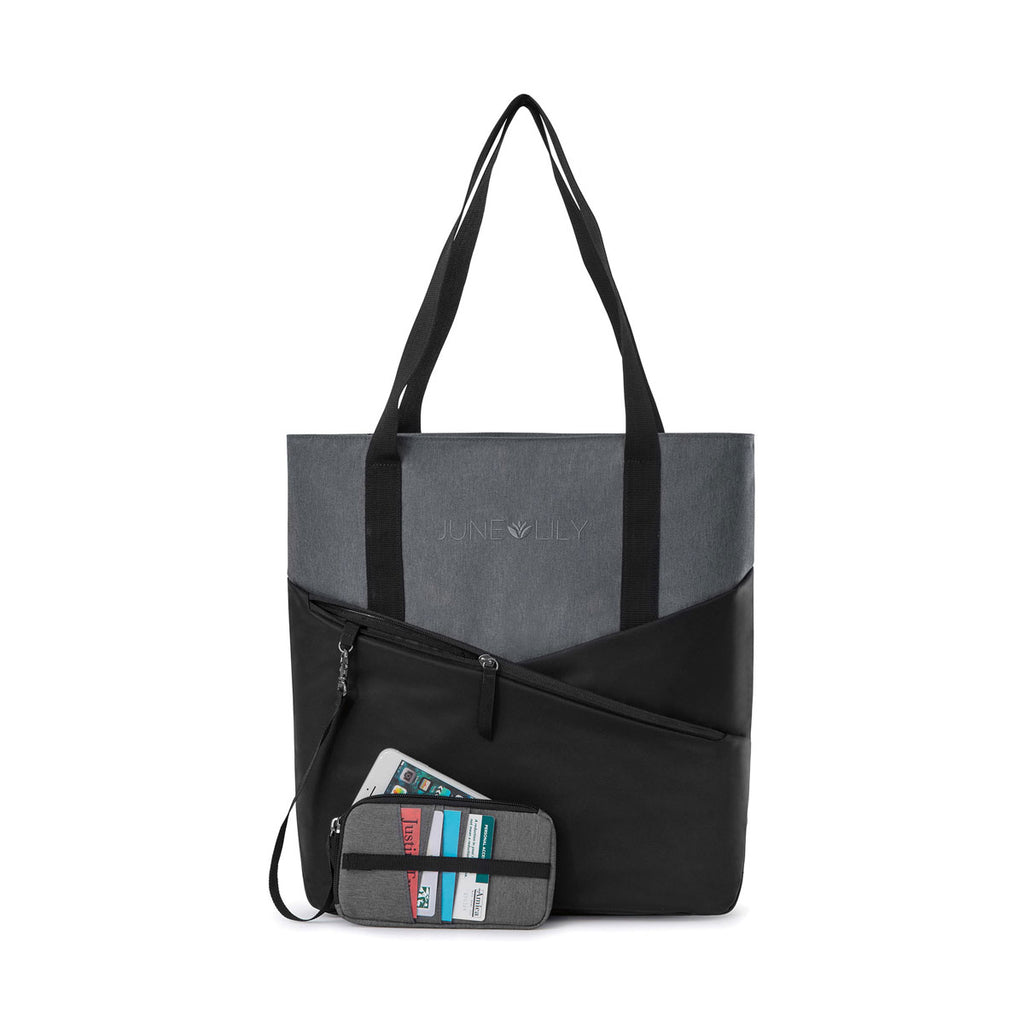 Gemline Black Charcoal Heather Daily Commuter Computer Tote