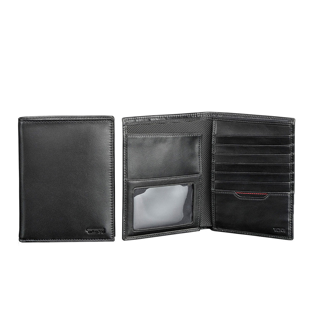 TUMI Black Delta Passport Case