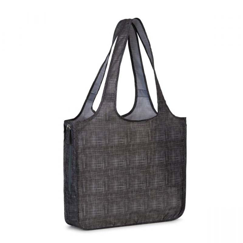 Gemline Charcoal Heather Riley Petite Patterned Tote