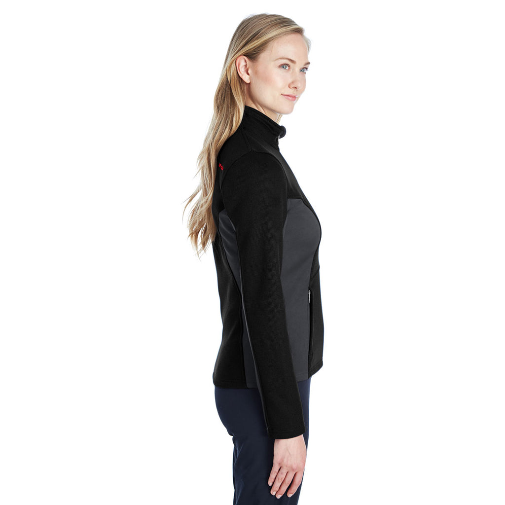 Spyder Women's Black/Plr/Red Full Zip Sweater