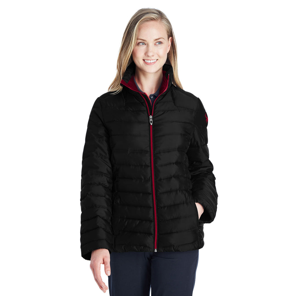 Spyder Women's Black/Red Supreme Puffer jacket