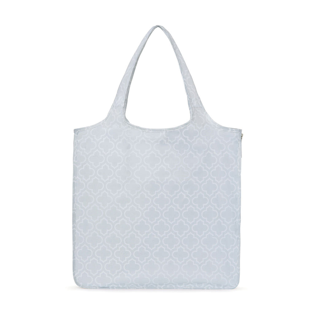 Gemline Light Grey Moroccan Pattern Riley Medium Patterend Tote