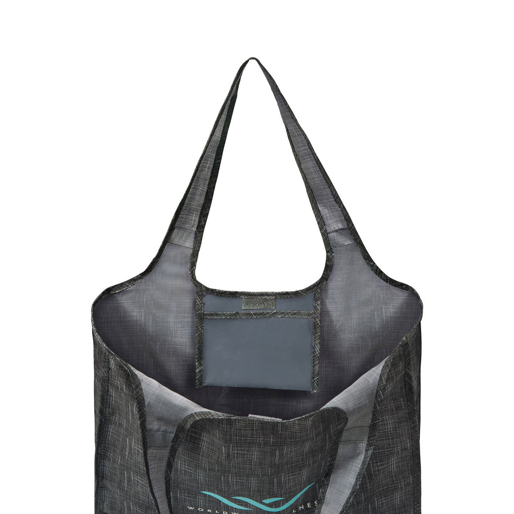 Gemline Charcoal Heather Riley Medium Patterend Tote