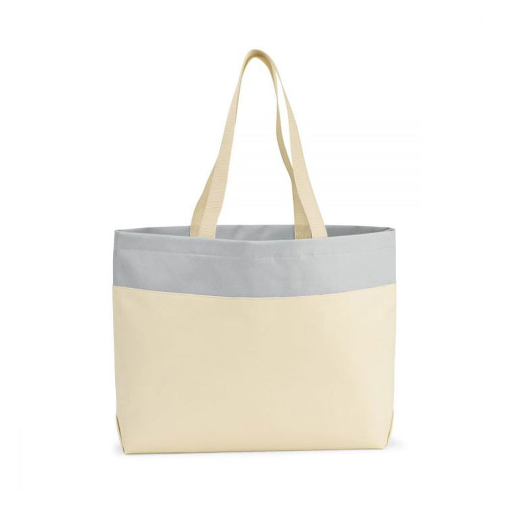 Gemline Natural/Glacial Grey Santorini Wipeable Interior Tote