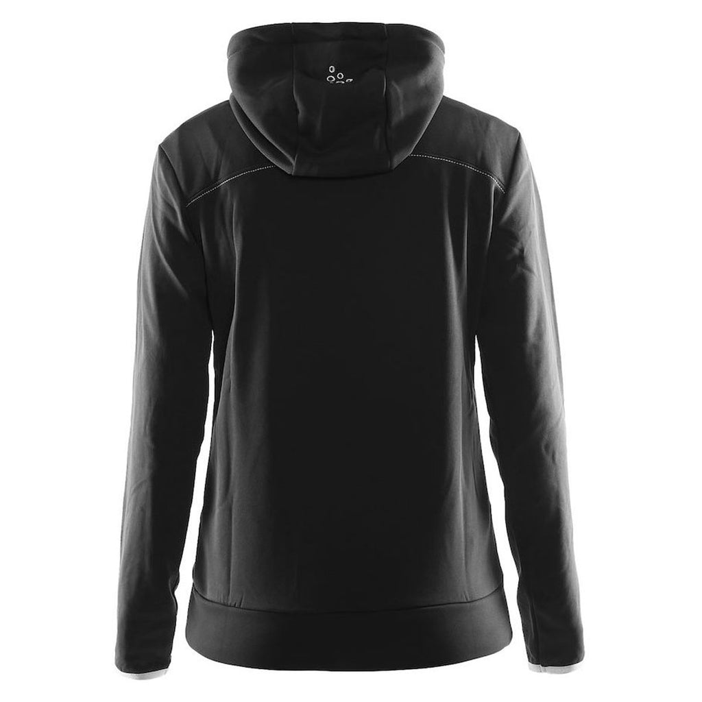 Craft Sports Women's Black/Platinum Leisure Full Zip Hood