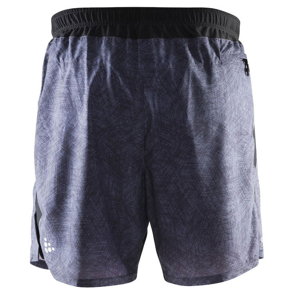 Craft Sports Men's P Line Black/Shock Joy Relaxed Shorts 2-in-1
