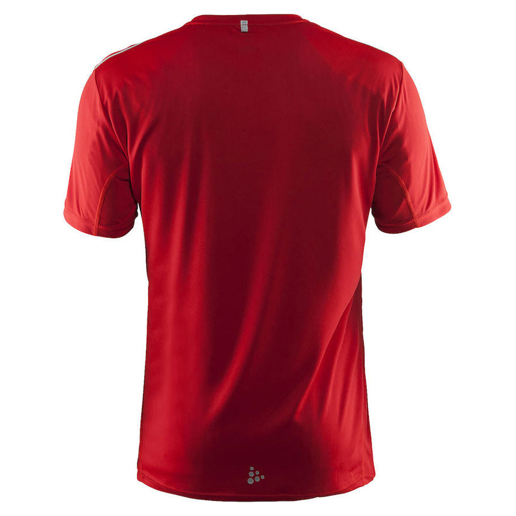 Craft Sports Men's Bright Red Mind Short Sleeve Tee