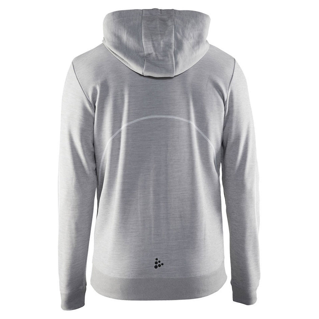 Craft Sports Men's Grey In the Zone Full Zip Hood