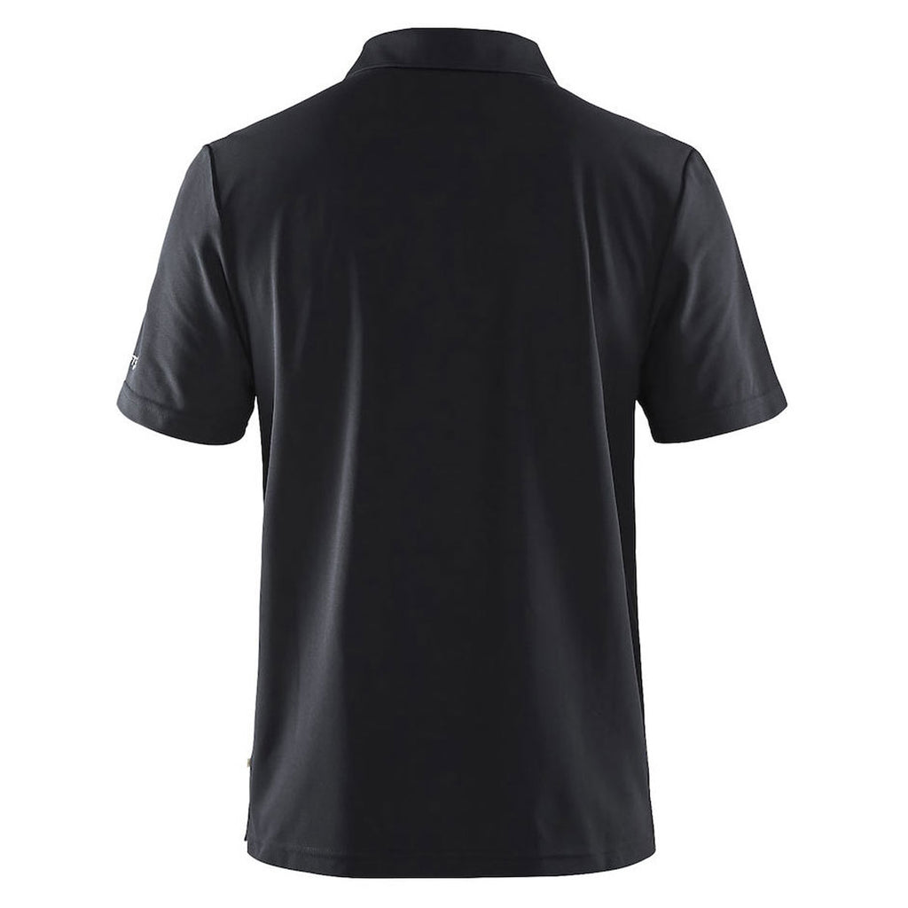 Craft Sports Men's Black Classic Zip Polo