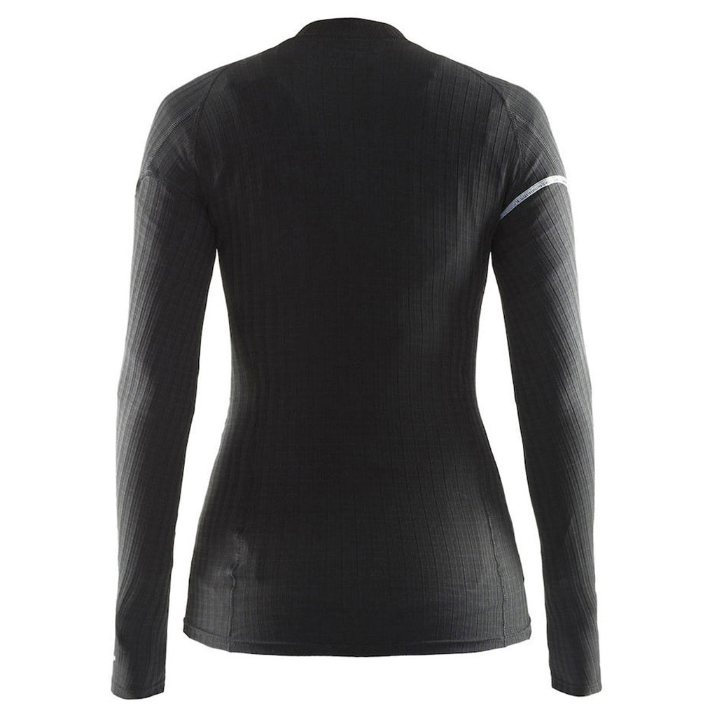 Craft Sports Women's Black/Platinum Active Extreme Crewneck
