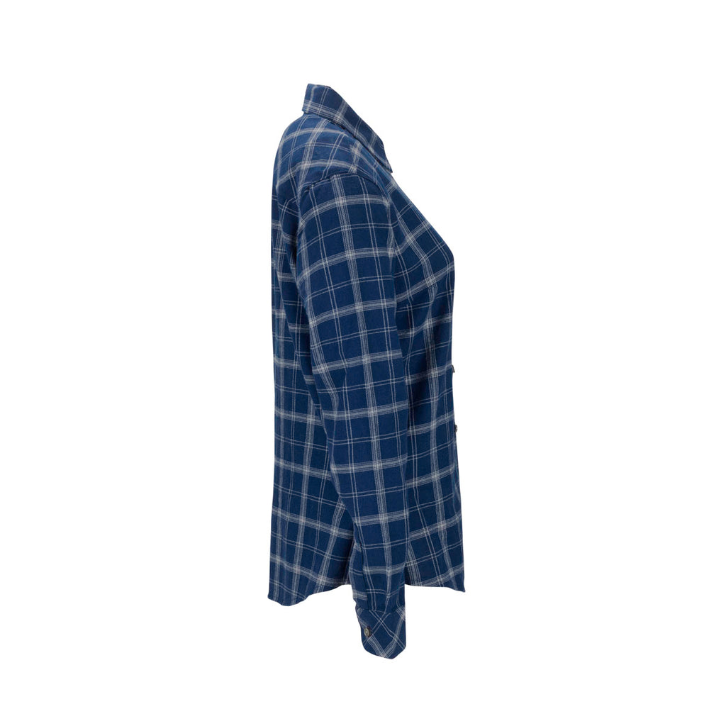 Vantage Women's True Navy/Light Grey Check Brewer Flannel