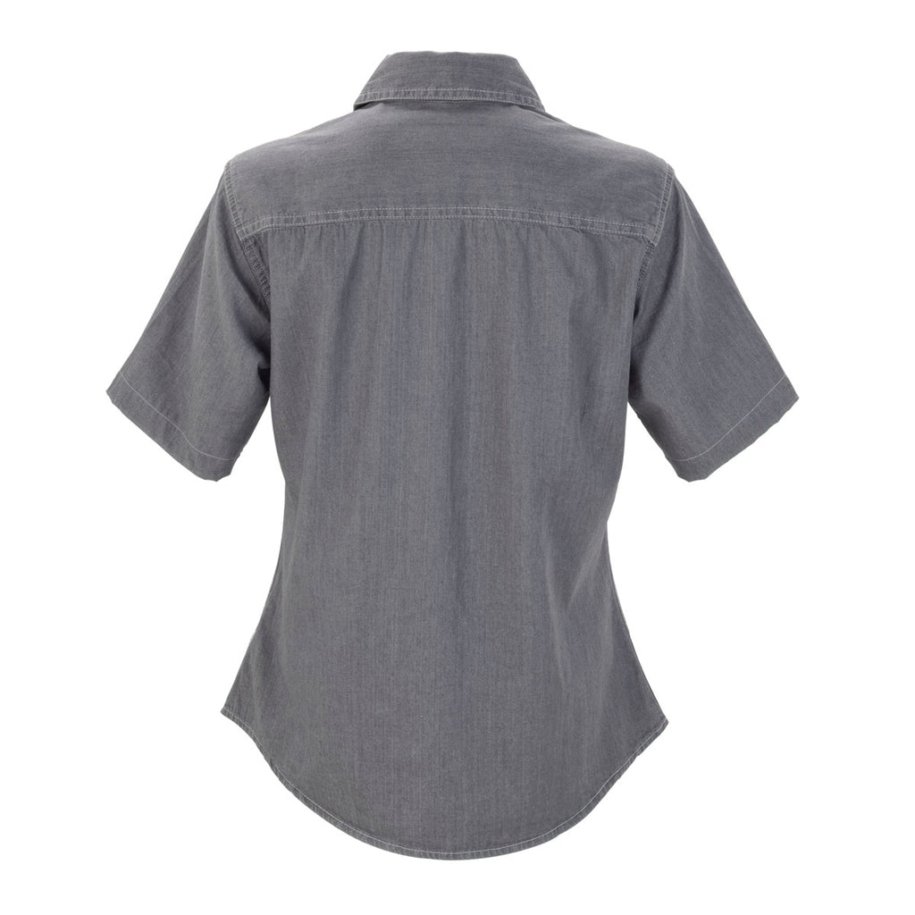 Vantage Women's Grey Short-Sleeve Hudson Denim Shirt