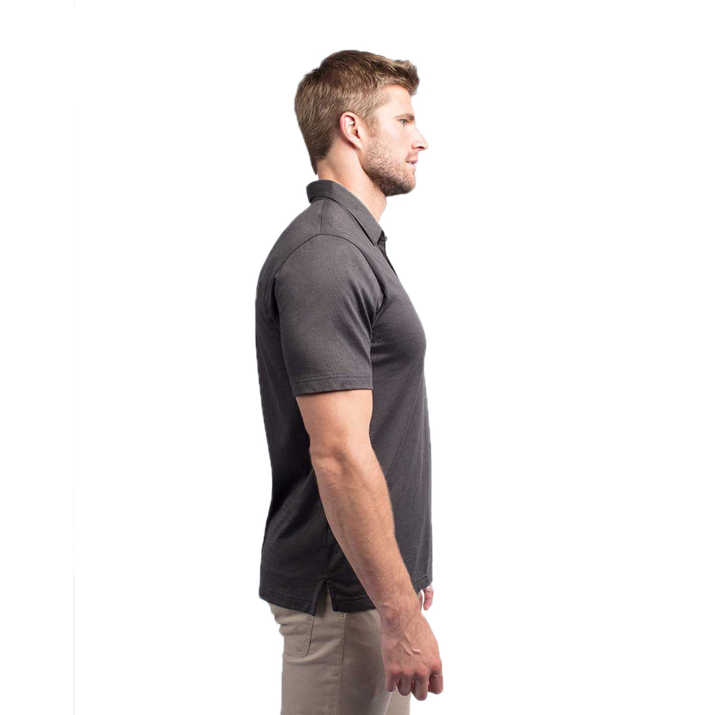 TravisMathew Men's The Zinna Black Polo