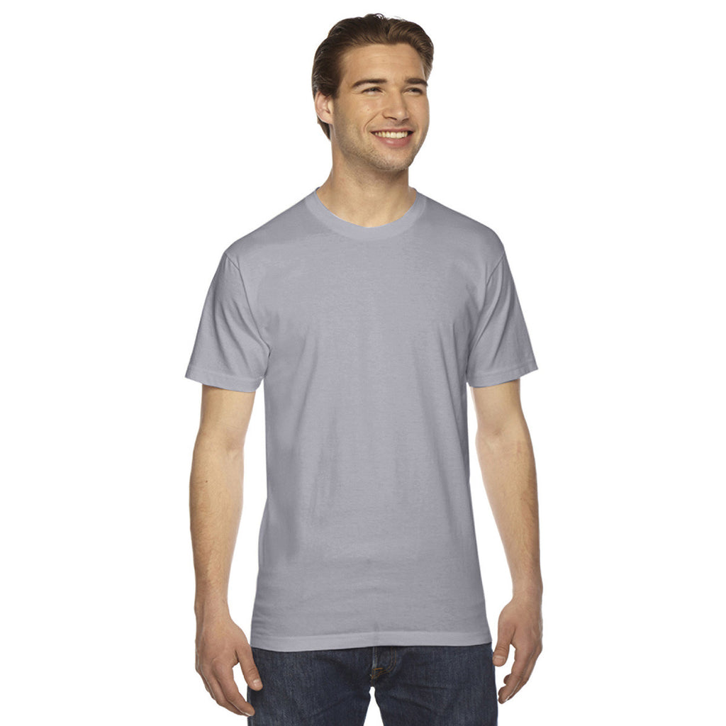American apparel unisex slate fine jersey short sleeve t shirt for American apparel custom t shirts