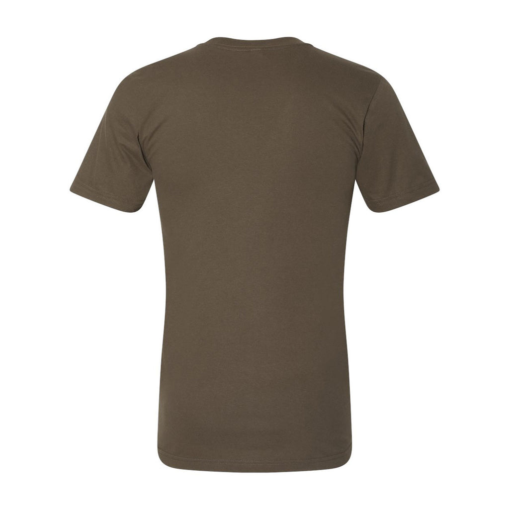 American Apparel Unisex Army Fine Jersey Short Sleeve T-Shirt