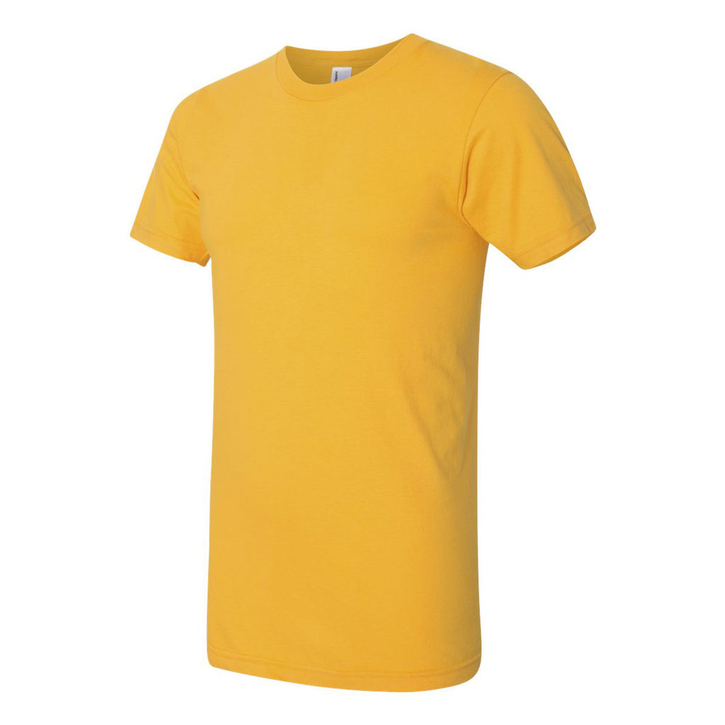 American Apparel Unisex Gold Fine Jersey Short Sleeve T-Shirt