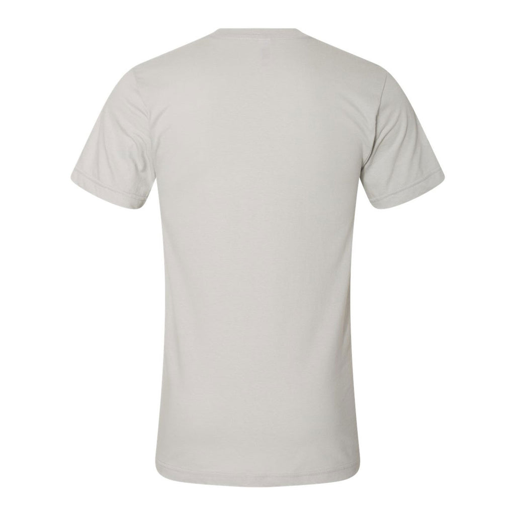 American Apparel Unisex New Silver Fine Jersey Short Sleeve T-Shirt