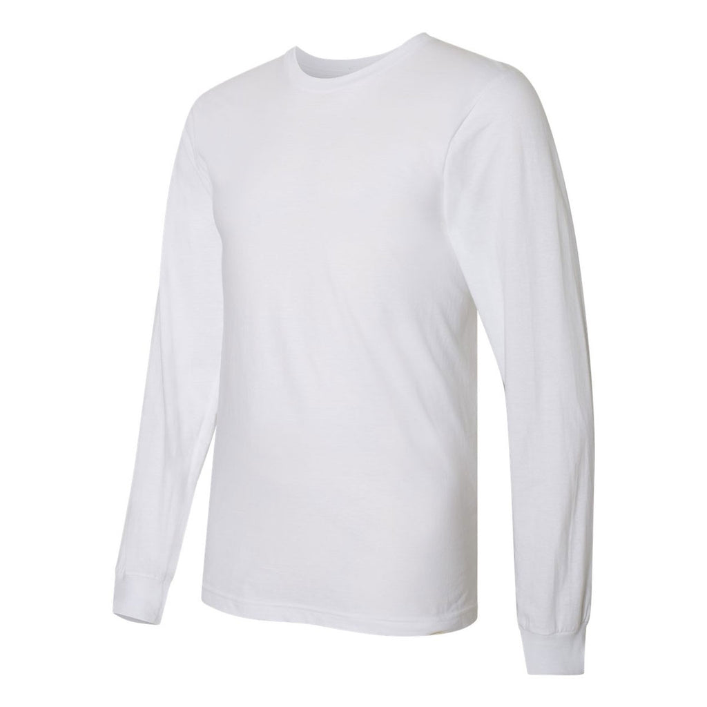 American Apparel Unisex White Fine Jersey Long Sleeve T-Shirt