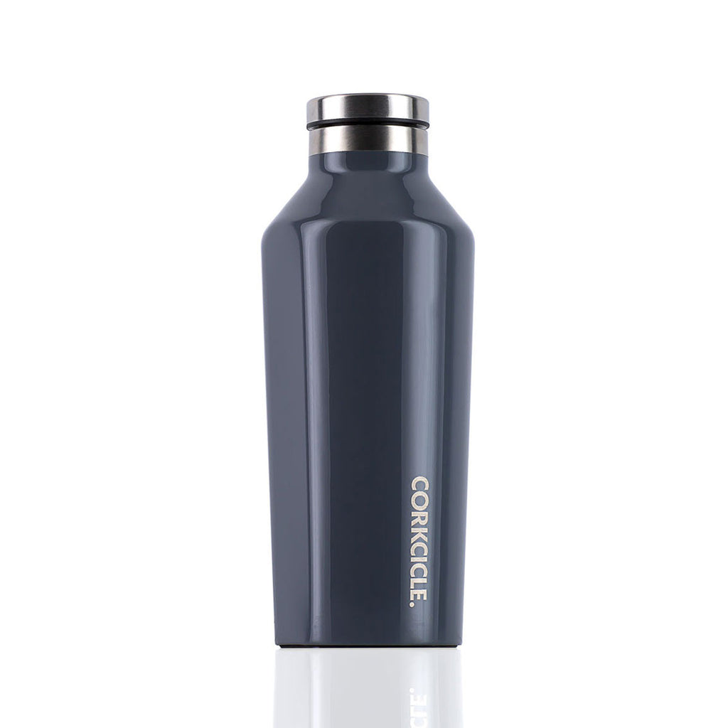 CORKCICLE. Gloss Graphite Canteen 9oz