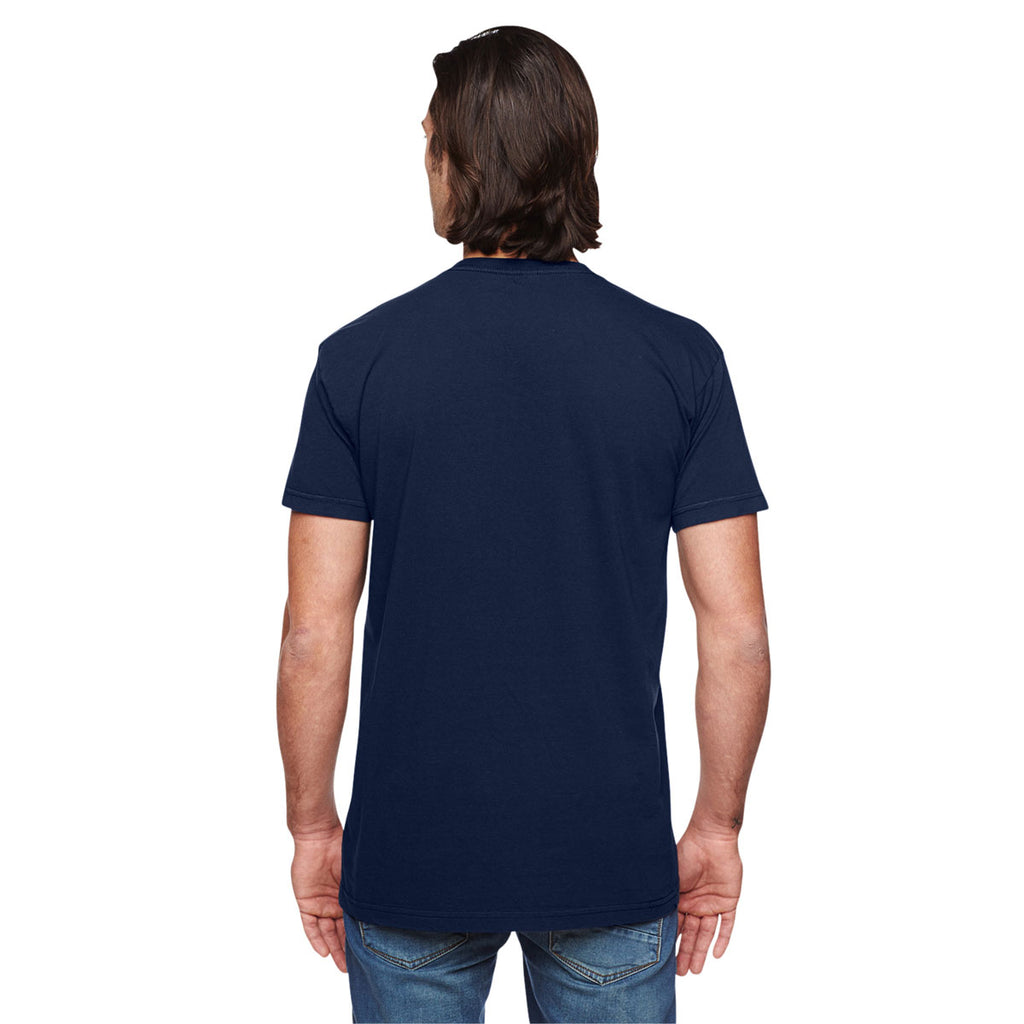 American Apparel Unisex Navy Power Washed T-Shirt