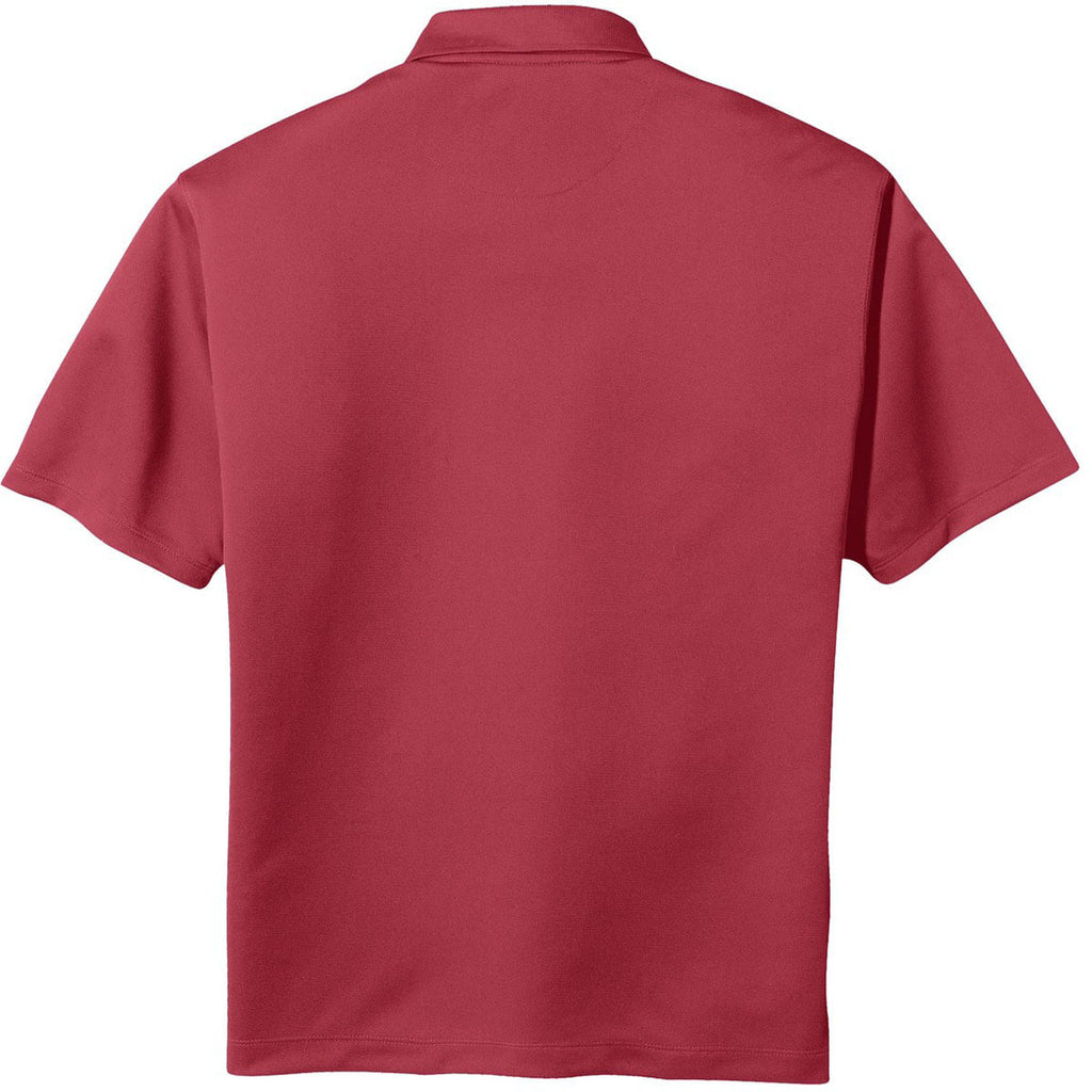 Nike Men's Red Tech Basic Dri-FIT Short Sleeve Polo