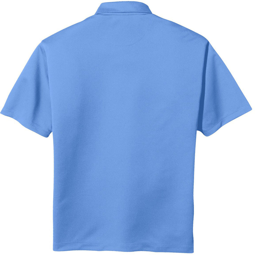 Nike Men's Light Blue Tech Basic Dri-FIT Short Sleeve Polo