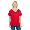 203fv-threadfast-women-red-t-shirt