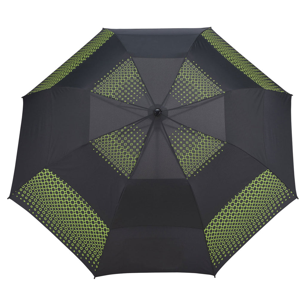 "Slazenger Lime Green/Black 58"" Vented, Auto Open Folding Golf Umbrella"