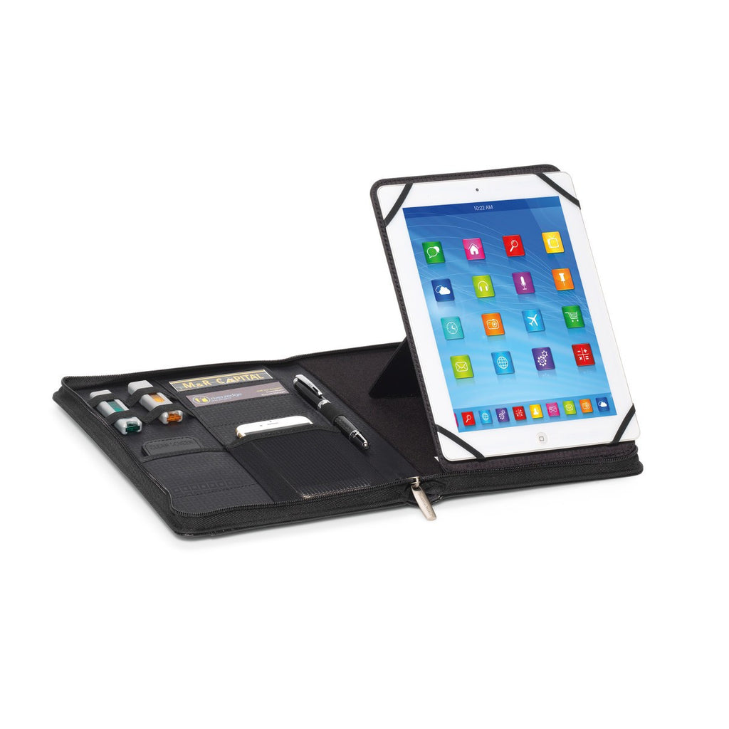 Travis & Wells Black Leather Tablet Swivel Stand