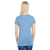 Threadfast Women's Vintage Denim Dye Short-Sleeve V-Neck T-Shirt