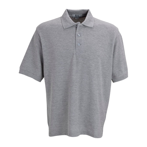 Vantage men 39 s oxford soft blend double tuck pique polo for No tuck golf shirts